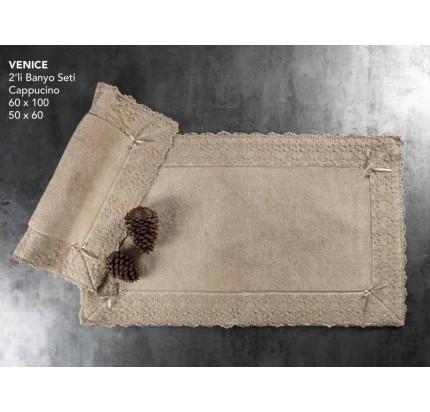 Набор ковриков Karven Venice капучино (50x60+60x100)
