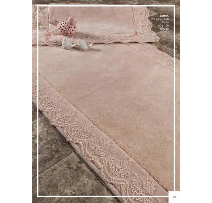 Набор ковриков Karven Berra пудра (50x60+60x100)
