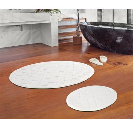 Набор ковриков Karven Oval Parke кремовый (50x60+60x100)