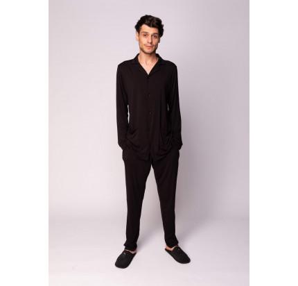Пижама мужская Sofi de Marko Адам (черная)