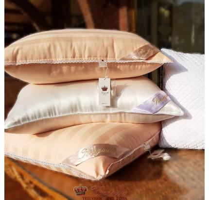Подушка Kingsilk Premium персиковая (низкая)