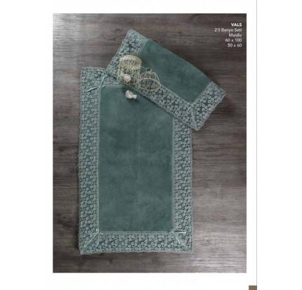 Набор ковриков Karven Vals темно-зеленый (50x60+60x100)