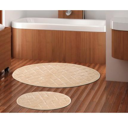 Набор ковриков Karven Oval Parke слоновая кость (50x60+60x100)