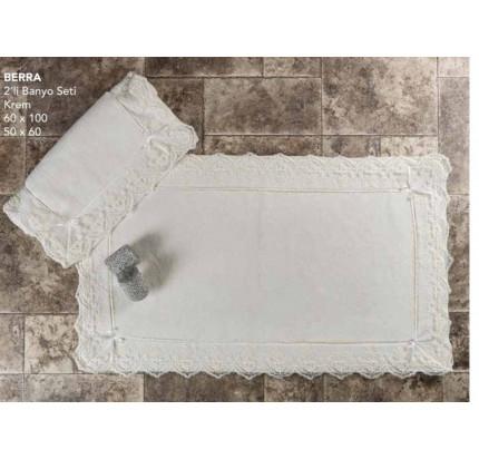 Набор ковриков Karven Berra кремовый (50x60+60x100)