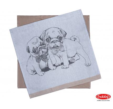 Набор салфеток Hobby Home Dogs св.коричневый (50x70, 2 предмета)
