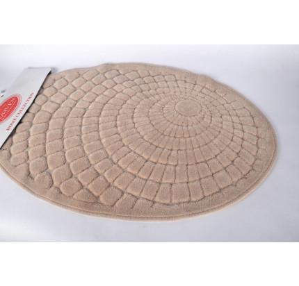 Набор ковриков Karven Oval Girdap бежевый (50x60+60x100)