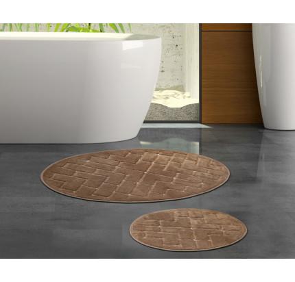 Набор ковриков Karven Oval Parke коричневый (50x60+60x100)