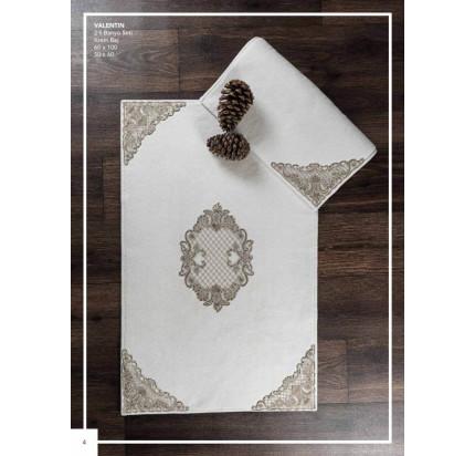 Набор ковриков Karven Valentin кремовый (50x60+60x100)