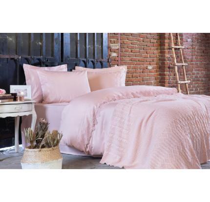 Набор Tivolyo Home Alianz (постельное белье + плед) розовый евро