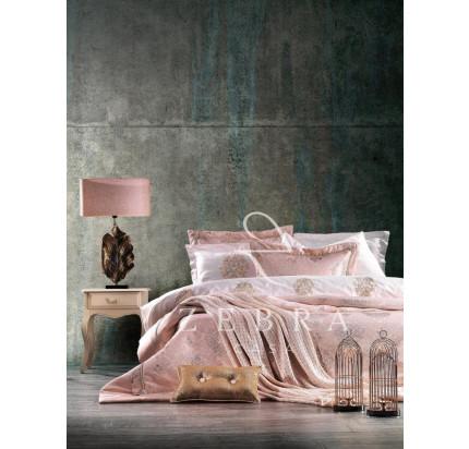 Набор с покрывалом Zebra Casa Shine (пудра) 11 предметов