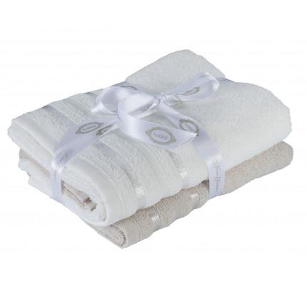 Набор полотенец Hobby Home Nisa бежевый-молочный (50x90 - 2 предмета)