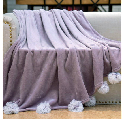 Плед Sofi de Marko Fluffy-ball (фиолетовый)