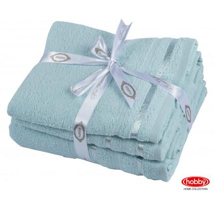 Набор полотенец Hobby Home Nisa бирюзово-зеленый (50x90+70x140 - 2 предмета)