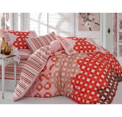 Постельное белье Hobby Home поплин Marsella (красный)