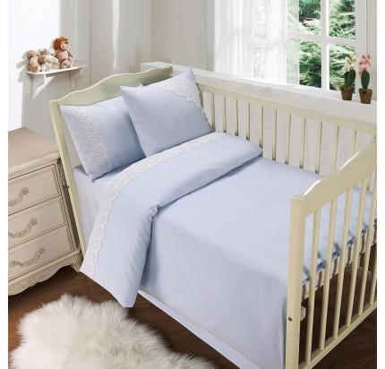 Sofi de Marko Кружево из облаков (голубой) детский комплект в кроватку
