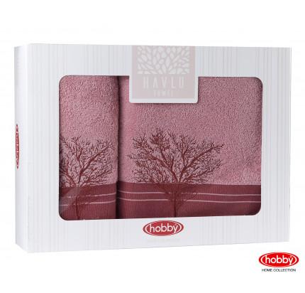 Набор полотенец Hobby Home Infinity в коробке (2 предмета, св.розовый)