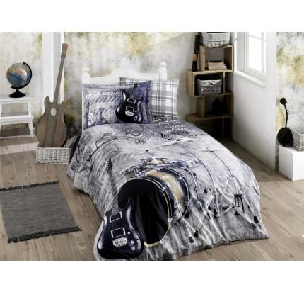 Hobby Home Rock Music (серый) детское постельное белье
