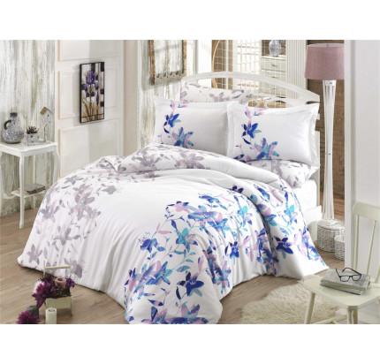 Постельное белье Hobby Home сатин Lucia (синий)