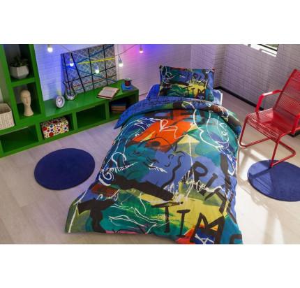 Постельное белье TAC Graffiti Face 1.5-спальное