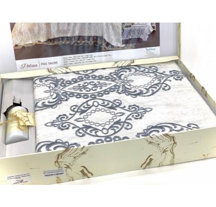 Комплект с покрывалом Evelina Polina крем-серый 6 предметов