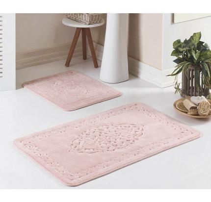 Набор ковриков Karven Osmanli пудра (50x60+60x100)