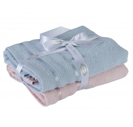 Набор полотенец Hobby Home Nisa пудра-голубой (50x90 - 2 предмета)