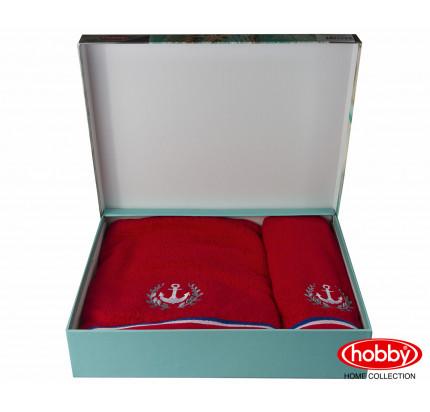 Набор полотенец Hobby Home Maritim (2 предмета, красный)
