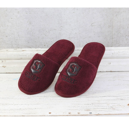 Тапочки Soft Cotton Luxure (бордовый)