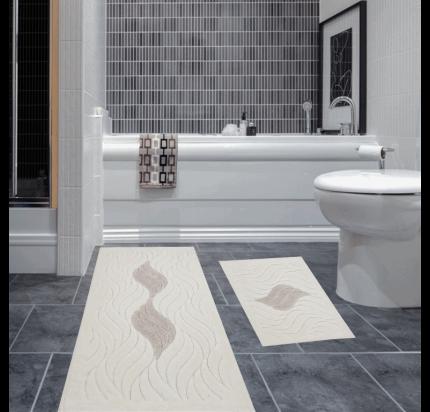 Набор ковриков Karven Dalga бежевый (50x60+60x100)