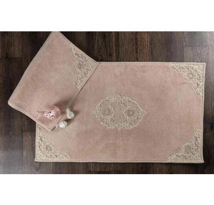 Набор ковриков Karven Caprice пудра (50x60+60x100)