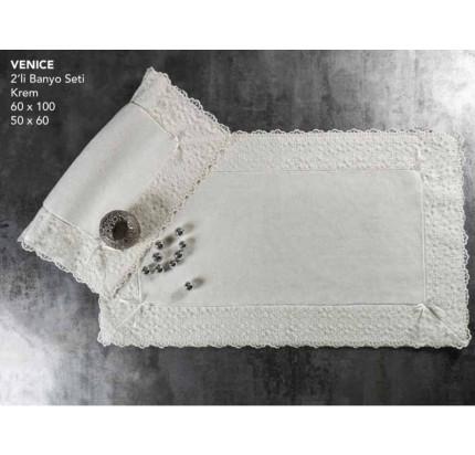 Набор ковриков Karven Venice кремовый (50x60+60x100)