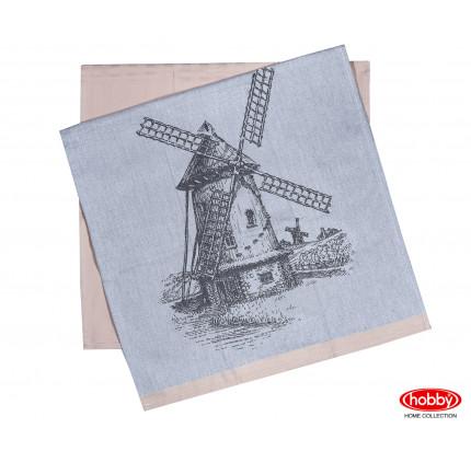 Набор салфеток Hobby Home Mill бежевый (50x70, 2 предмета)