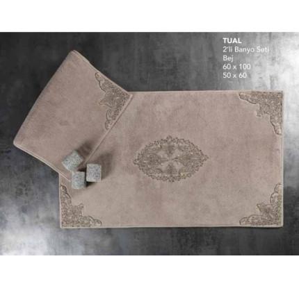 Набор ковриков Karven Tual бежевый (50x60+60x100)