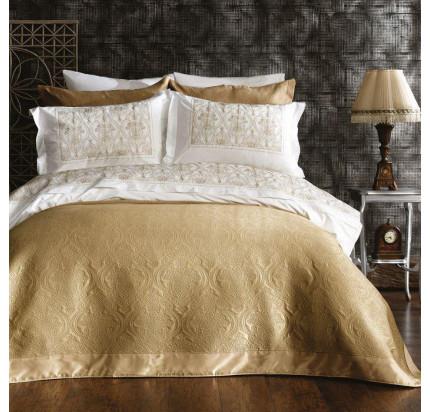 Набор с покрывалом Zebra Casa Linde dark gold