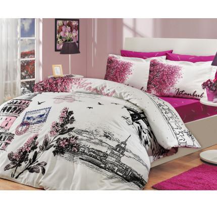 Постельное белье Hobby Home поплин Istanbul Panorama (розовый)