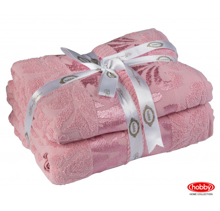 Набор полотенец Hobby Home Versal розовый (50x90+70x140 - 2 предмета)