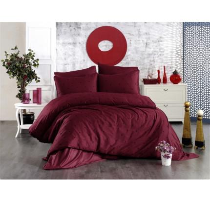 Постельное белье Grazie Home LOVEN'S бордовый/чёрный евро