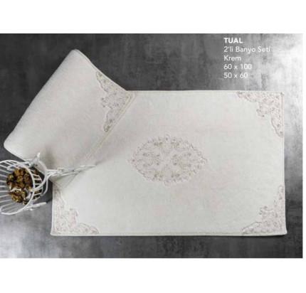 Набор ковриков Karven Tual кремовый (50x60+60x100)