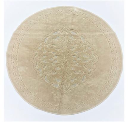Круглый коврик Karven Osmanli бежевый 120 см.