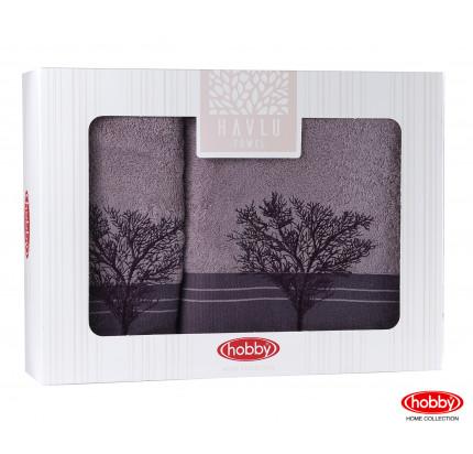 Набор полотенец Hobby Home Infinity в коробке (2 предмета, фиолетовый)