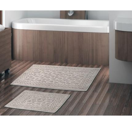 Набор ковриков Karven Hasankeyf бежевый (50x60+60x100)