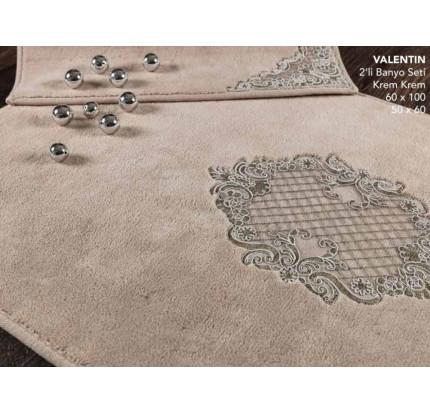 Набор ковриков Karven Valentin бежевый (50x60+60x100)