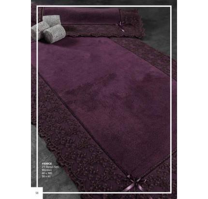 Набор ковриков Karven Venice фиолетовый (50x60+60x100)