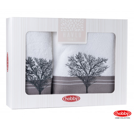 Набор полотенец Hobby Home Infinity в коробке (2 предмета, белый)