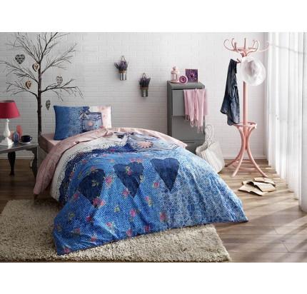 Постельное белье TAC Lacy (синий) 1.5-спальное