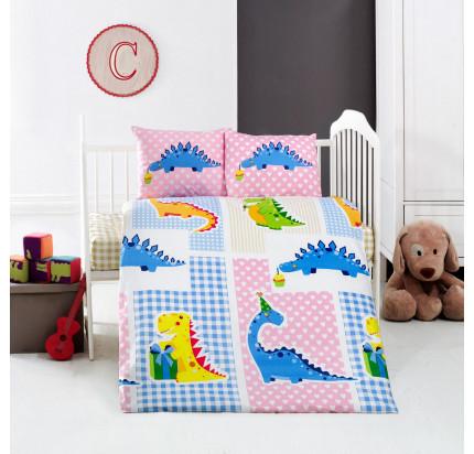 Детское белье в кроватку Arya Home Dino
