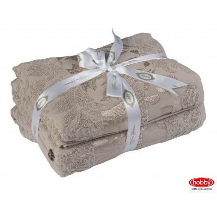 Набор полотенец Hobby Home Versal коричневый (50x90+70x140 - 2 предмета)
