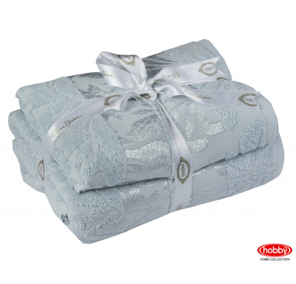 Набор полотенец Hobby Home Versal голубой (50x90+70x140 - 2 предмета)