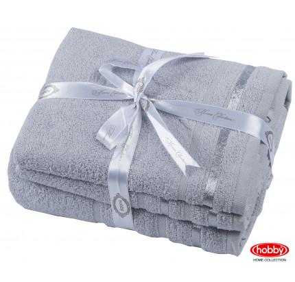 Набор полотенец Hobby Home Nisa светло-серый (50x90+70x140 - 2 предмета)