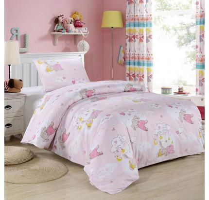 Sofi de Marko Веселый кролик (розовый) детское постельное белье